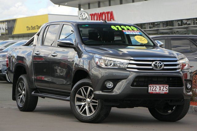 Used Toyota Hilux GUN126R SR5 Double Cab, 2018 Toyota Hilux GUN126R SR5 Double Cab Graphite 6 Speed Sports Automatic Utility