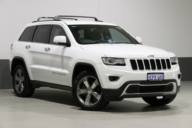 Used Jeep Grand Cherokee WK MY15 Limited (4x4), 2014 Jeep Grand Cherokee WK MY15 Limited (4x4) White 8 Speed Automatic Wagon