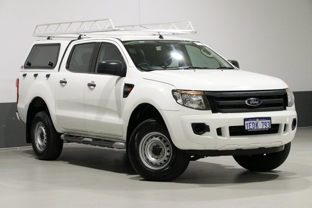 Used Ford Ranger PX XL 2.2 Hi-Rider (4x2), 2013 Ford Ranger PX XL 2.2 Hi-Rider (4x2) White 6 Speed Automatic Crew Cab Pickup