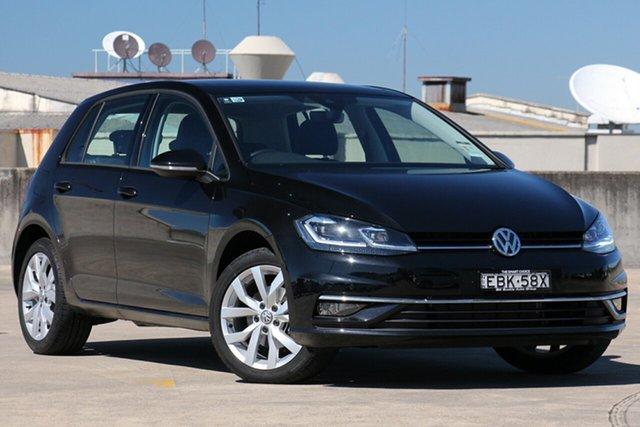 Demo Volkswagen Golf 7.5 MY19 110TSI DSG Highline, 2018 Volkswagen Golf 7.5 MY19 110TSI DSG Highline Deep Black Pearl Effect 7 Speed