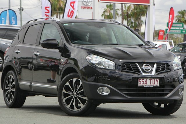 Used Nissan Dualis J10W Series 4 MY13 Ti-L Hatch X-tronic 2WD, 2013 Nissan Dualis J10W Series 4 MY13 Ti-L Hatch X-tronic 2WD Black 6 Speed Constant Variable