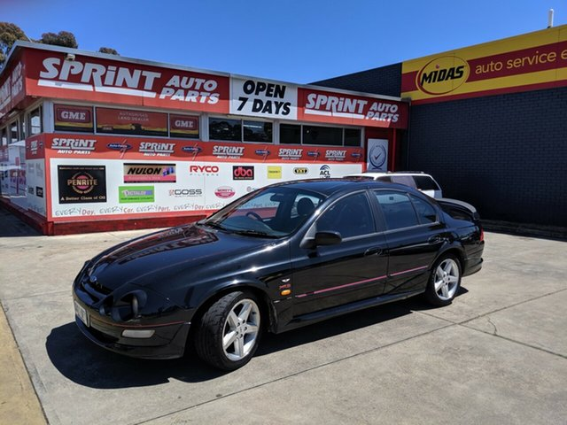 Used Ford Falcon AU XR8, 1999 Ford Falcon AU XR8 Black 4 Speed Automatic Sedan