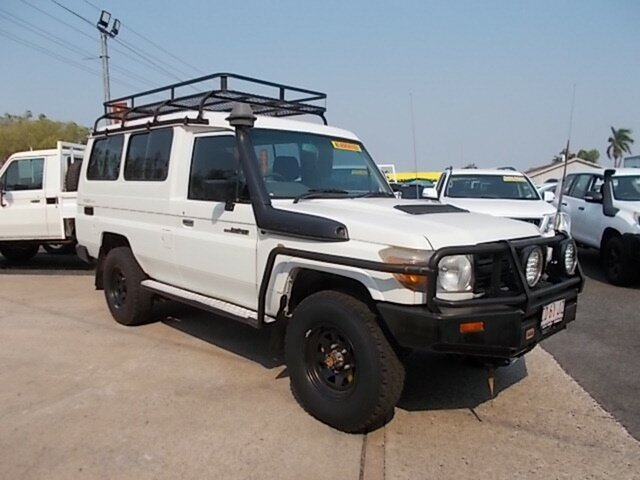 Used Toyota Landcruiser VDJ78R Workmate Troopcarrier, 2008 Toyota Landcruiser VDJ78R Workmate Troopcarrier White 5 Speed Manual Wagon