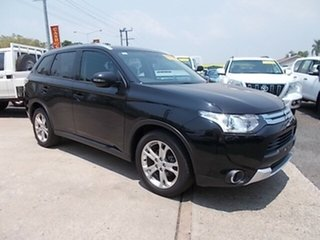 2014 Mitsubishi Outlander ZJ MY14.5 ES 2WD Black 6 Speed Constant Variable Wagon.