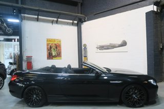 2013 BMW 6 Series F12 MY1112 640i Steptronic Black 8 Speed Sports Automatic Convertible.