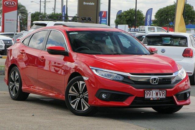 Used Honda Civic 10th Gen MY16 VTi-LX, 2016 Honda Civic 10th Gen MY16 VTi-LX Red 1 Speed Constant Variable Sedan