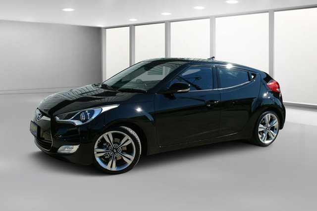 Used Hyundai Veloster FS3 + Coupe D-CT, 2014 Hyundai Veloster FS3 + Coupe D-CT Black 6 Speed Sports Automatic Dual Clutch Hatchback
