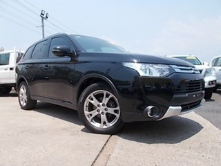 2014 Mitsubishi Outlander ZJ MY14.5 ES 2WD Black 6 Speed Constant Variable Wagon