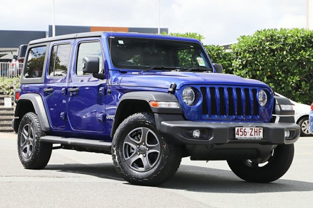Used Jeep Wrangler JL MY19 Unlimited Sport S, 2019 Jeep Wrangler JL MY19 Unlimited Sport S Ocean Blue 8 Speed Automatic Softtop
