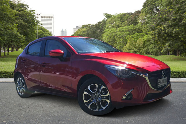 Demo Mazda 2 DJ2HAA GT SKYACTIV-Drive, 2019 Mazda 2 DJ2HAA GT SKYACTIV-Drive Soul Red 6 Speed Sports Automatic Hatchback
