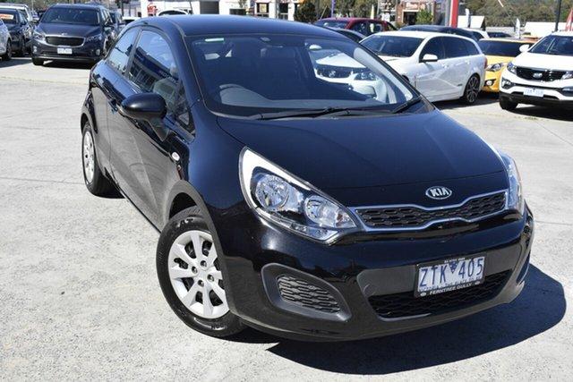 Used Kia Rio UB MY13 S, 2013 Kia Rio UB MY13 S Black/Grey 6 Speed Manual Hatchback