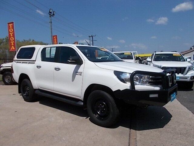 Used Toyota Hilux GUN126R SR Double Cab, 2016 Toyota Hilux GUN126R SR Double Cab White 6 Speed Sports Automatic Utility