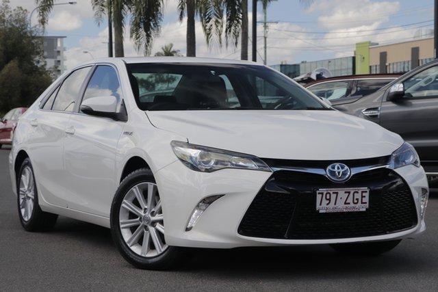 Used Toyota Camry AVV50R Atara S, 2015 Toyota Camry AVV50R Atara S White 1 Speed Constant Variable Sedan Hybrid