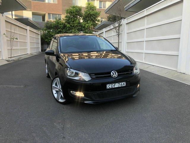 Used Volkswagen Polo 6R MY12 77TSI Comfortline, 2011 Volkswagen Polo 6R MY12 77TSI Comfortline Black 6 Speed Manual Hatchback