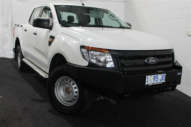 Used Ford Ranger PX XL Double Cab, 2014 Ford Ranger PX XL Double Cab White 6 Speed Manual Utility