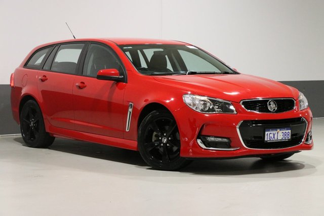 Used Holden Commodore VF II MY17 SV6, 2017 Holden Commodore VF II MY17 SV6 Red 6 Speed Automatic Sportswagon