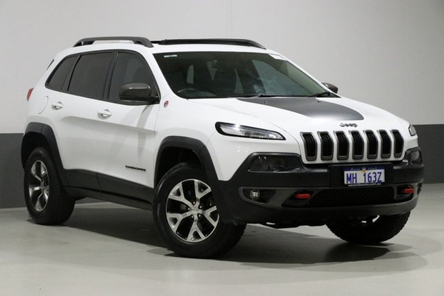 Used Jeep Cherokee KL MY15 Trailhawk (4x4), 2015 Jeep Cherokee KL MY15 Trailhawk (4x4) White 9 Speed Automatic Wagon