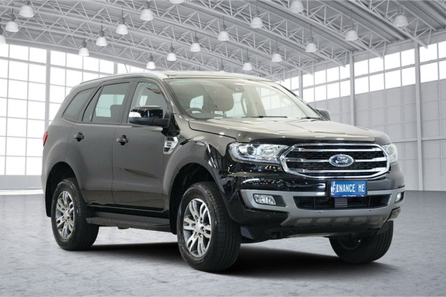 Used Ford Everest UA II 2019.00MY Trend RWD, 2018 Ford Everest UA II 2019.00MY Trend RWD Shadow Black 10 Speed Sports Automatic Wagon