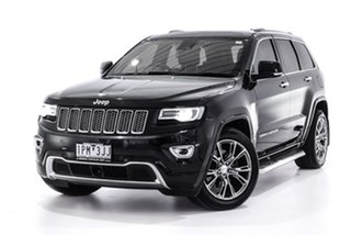 2016 Jeep Grand Cherokee WK MY15 Overland Black 8 Speed Sports Automatic Wagon.