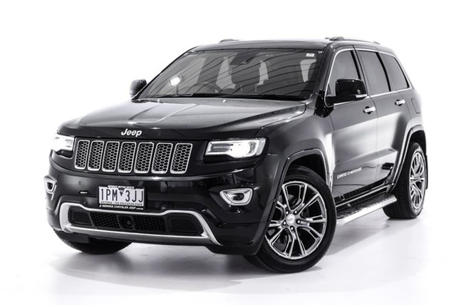 Used Jeep Grand Cherokee WK MY15 Overland, 2016 Jeep Grand Cherokee WK MY15 Overland Black 8 Speed Sports Automatic Wagon