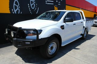 2016 Ford Ranger PX MkII XL Double Cab Cool White 6 Speed Sports Automatic Cab Chassis