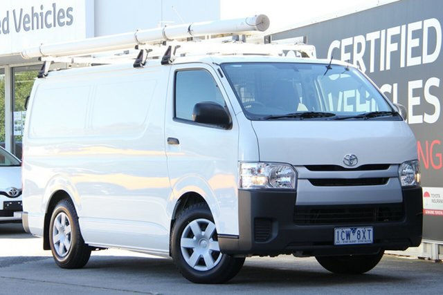 Used Toyota HiAce KDH201R MY14 LWB, 2014 Toyota HiAce KDH201R MY14 LWB French Vanilla 5 Speed Manual Van
