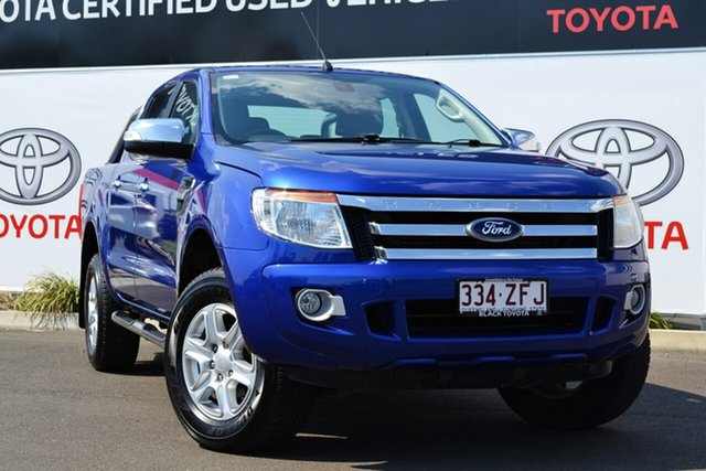 Used Ford Ranger PX XLT 3.2 (4x4), 2012 Ford Ranger PX XLT 3.2 (4x4) Blue 6 Speed Automatic Dual Cab Utility