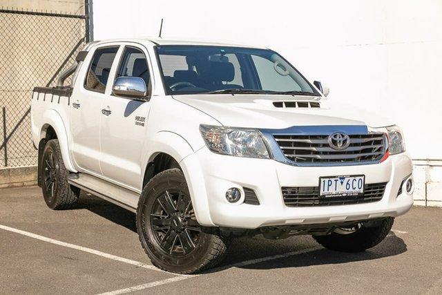Used Toyota Hilux KUN26R MY14 SR5 Double Cab, 2015 Toyota Hilux KUN26R MY14 SR5 Double Cab White 5 Speed Automatic Utility