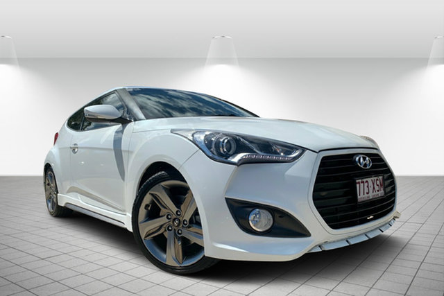 Used Hyundai Veloster FS2 SR Coupe Turbo, 2013 Hyundai Veloster FS2 SR Coupe Turbo White 6 Speed Manual Hatchback
