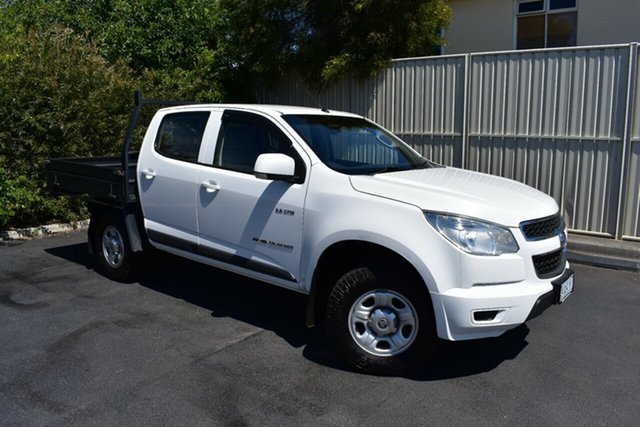 Used Holden Colorado RG MY14 LX Crew Cab, 2014 Holden Colorado RG MY14 LX Crew Cab Summit White 6 Speed Sports Automatic Cab Chassis