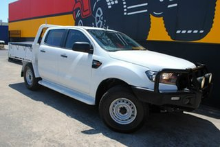 2016 Ford Ranger PX MkII XL Double Cab Cool White 6 Speed Sports Automatic Cab Chassis.