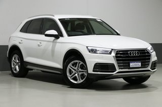 2018 Audi Q5 FY MY18 2.0 TDI Quattro Design White 7 Speed Auto S-Tronic Wagon.