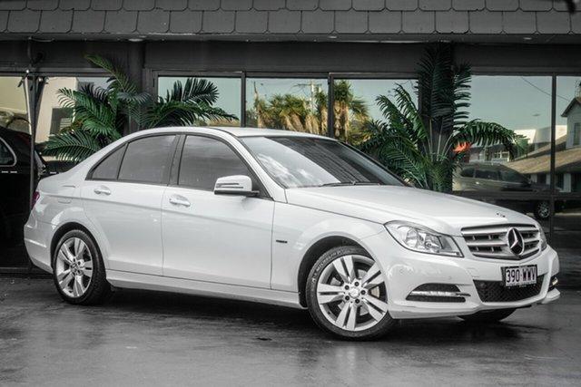 Used Mercedes-Benz C-Class W204 MY12 C200 BlueEFFICIENCY 7G-Tronic + Elegance, 2012 Mercedes-Benz C-Class W204 MY12 C200 BlueEFFICIENCY 7G-Tronic + Elegance White 7 Speed
