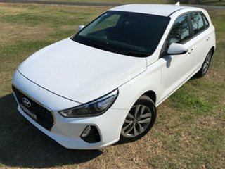 2018 Hyundai i30 PD MY18 Active D-CT Polar White 7 Speed Sports Automatic Dual Clutch Hatchback.
