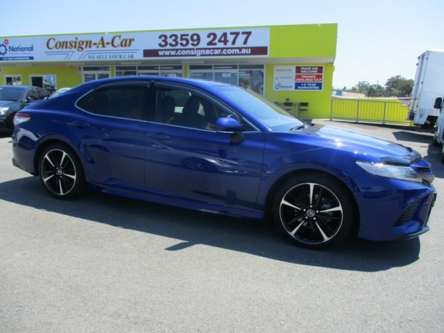 Used Toyota Camry GSV70R SX, 2018 Toyota Camry GSV70R SX Blue 8 Speed Sports Automatic Sedan