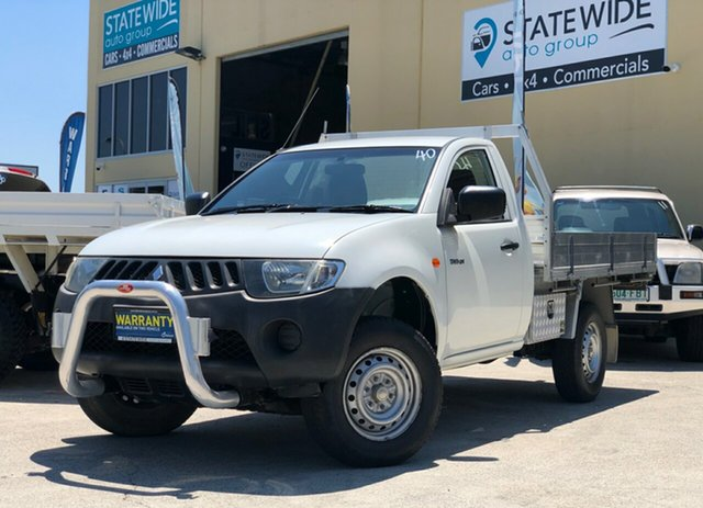 Used Mitsubishi Triton ML MY08 GL 4x2, 2008 Mitsubishi Triton ML MY08 GL 4x2 White 5 Speed Manual Cab Chassis