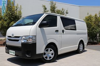 2014 Toyota HiAce KDH201R MY14 LWB White 5 speed Manual Van.