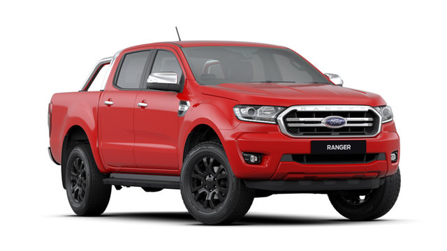 New Ford Ranger PX MkIII 2020.25MY XLT 2.0 (4x4), 2019 Ford Ranger PX MkIII 2020.25MY XLT 2.0 (4x4) True Red 10 Speed Automatic Double Cab Utility