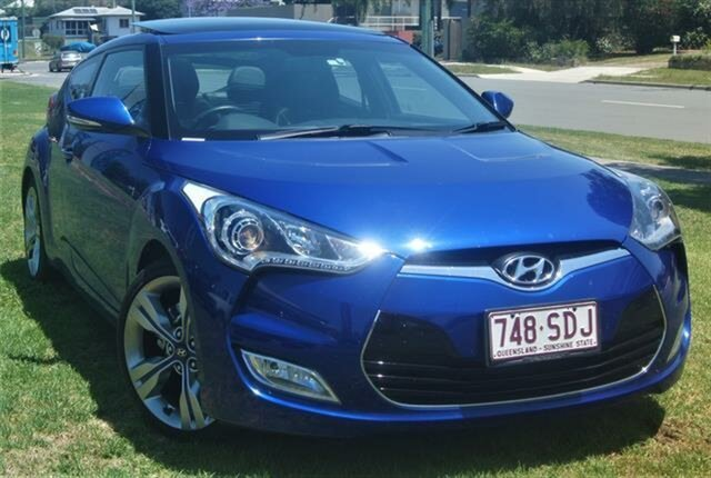 Used Hyundai Veloster FS Coupe D-CT, 2011 Hyundai Veloster FS Coupe D-CT Blue 6 Speed Sports Automatic Dual Clutch Hatchback