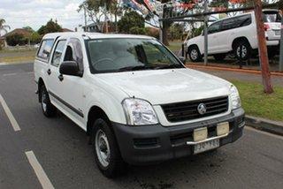 2005 Holden Rodeo RA MY05.5 Upgrade LX White 5 Speed Manual Crew Cab Pickup.