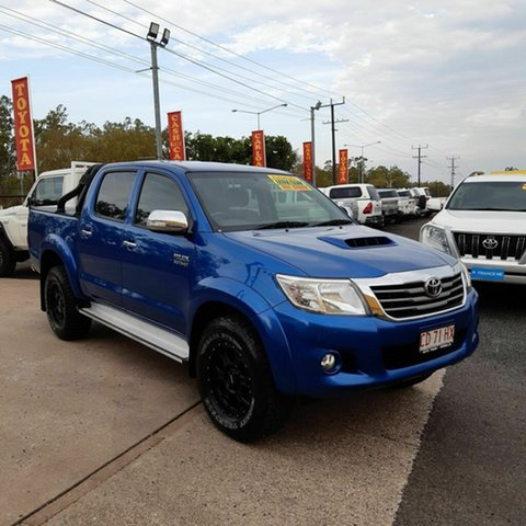 Used Toyota Hilux KUN26R MY14 SR5 Double Cab, 2014 Toyota Hilux KUN26R MY14 SR5 Double Cab Blue 5 Speed Automatic Utility