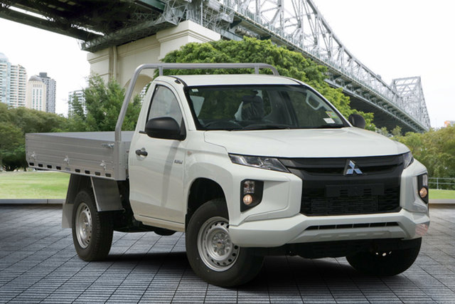 Used Mitsubishi Triton MR MY19 GLX, 2018 Mitsubishi Triton MR MY19 GLX White 6 Speed Manual Cab Chassis