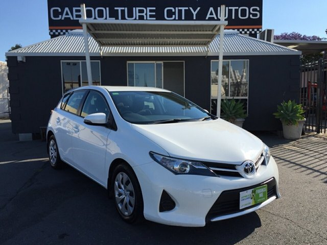 Used Toyota Corolla ZRE182R Ascent, 2014 Toyota Corolla ZRE182R Ascent White 7 Speed CVT Auto Sequential Hatchback