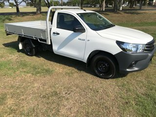 2017 Toyota Hilux TGN121R MY17 Workmate Glacier White 5 Speed Manual Cab Chassis