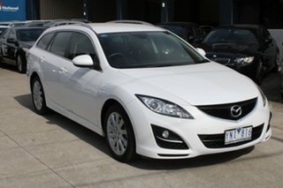 2011 Mazda 6 GH MY10 Classic White 5 Speed Auto Activematic Wagon.