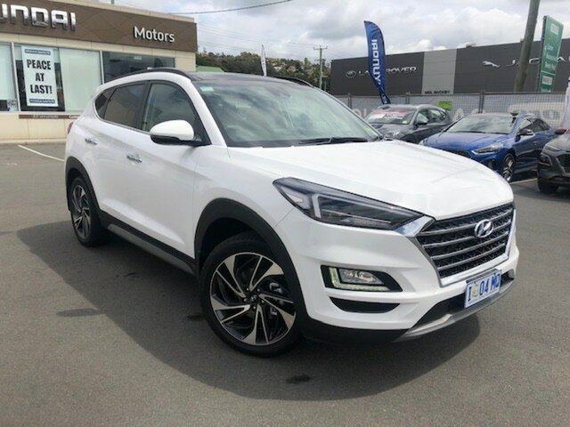 Demo Hyundai Tucson TL3 MY20 Highlander AWD, 2019 Hyundai Tucson TL3 MY20 Highlander AWD Pure White 8 Speed Sports Automatic Wagon