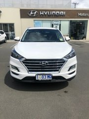 2018 Hyundai Tucson TL3 MY19 Elite D-CT AWD Pure White 7 Speed Sports Automatic Dual Clutch Wagon.