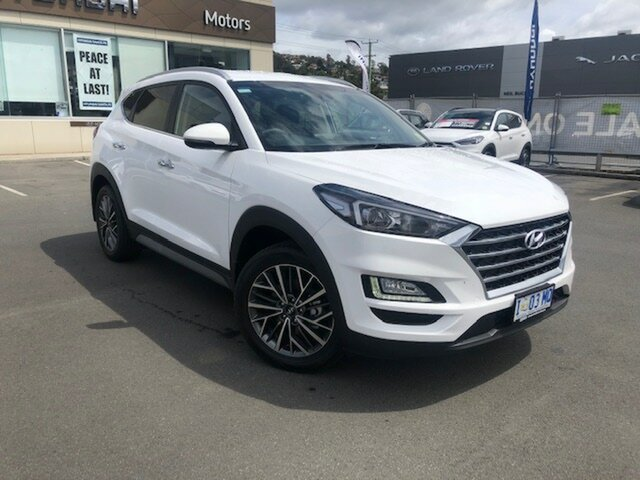 Demo Hyundai Tucson TL3 MY19 Elite D-CT AWD, 2018 Hyundai Tucson TL3 MY19 Elite D-CT AWD Pure White 7 Speed Sports Automatic Dual Clutch Wagon