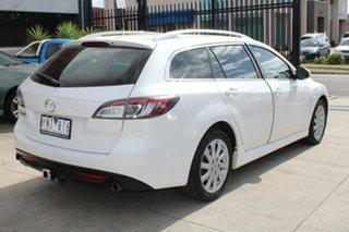 2011 Mazda 6 GH MY10 Classic White 5 Speed Auto Activematic Wagon