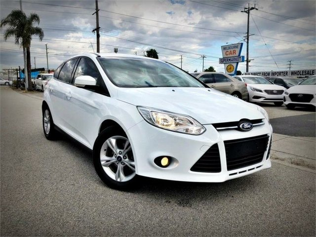 Used Ford Focus LW MkII Trend, 2014 Ford Focus LW MkII Trend White Sports Automatic Dual Clutch Hatchback